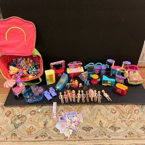 Huge Polly Pocket Lot Clothes Car Fair Pets More!